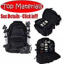 Deluxe camera Backpack Pro Bag Case Canon Nikon DSLR SLR BLACK Multifunctional H