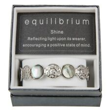 EQUILIBRIUM Filigree And Pearl Expandable Bracelet SILVER PLATED