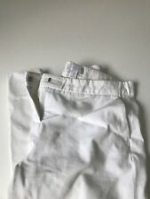 The White Company ladies white cropped trousers size 12