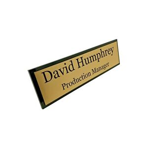 CEO Standing Personalised Desk Name Plate Custom Sign Plaque Work Home Office
