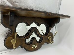 VINTAGE O&L BRASS WORKS SHELF MIRROR AND HANGER NEW IN BOX