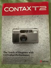 CONTAX T2 35mm SLR CAMERA Advertisers BROCHURE ZEISS Lens Kyocera Free Shipping