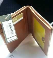 ❤❤❤NEW $69 FOSSIL AUTHENTIC EMMA PALE Gold Leather wallet purse clutch coin 💗💗