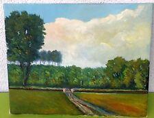 """ The Way to the Grove "" Oil / lwd. to schreibung. KM (Karlheinz manetstötter)"