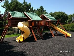 1 Full Pallet of Playground Rubber Mulch Natural Black 2,000 lb.