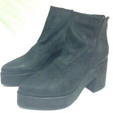 LD TUTTLE Women's Black The Door Leather Platform Boots, 37.5 US 7.5 $645