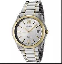 Seiko Gents Silver Dial Two Tone Steel Bracelet Dress Watch SGEF22P1