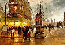 Paris Hotel French Street Scene   Print  Poster