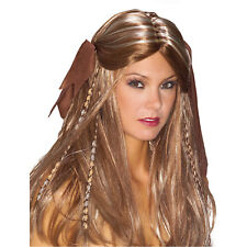 ADULT PIRATE WENCH BROWN WIG COSTUME ACCESSORY