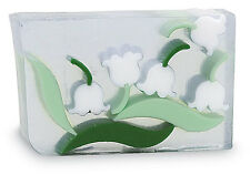 PRIMAL ELEMENTS LILY OF THE VALLEY 6.0 OZ. VEGETABLE GLYCERIN BAR SOAP HANDMADE