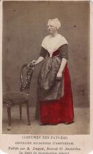 Photo carte de visite :  Costumes des Pays-Bas ,Orpheline bourgeoise d'Amsterdam
