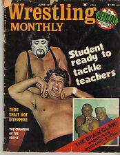 WRESTLING MONTHLY JUNE 1977 BRUNO SAMMARTINO AL MADRIL FREDDIE BLASSIE WWE WWF