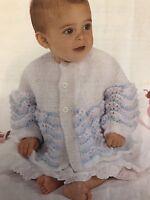 "Cb79 - Knitting Pattern - Baby's Matinee Coat / Jacket - 16 (18, 20)"""