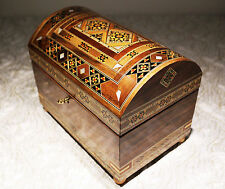 Schatztruhe Holzmosaik Schmuckkasten Handkraft mit Perlmutt,Damaskunst K 3-4-41