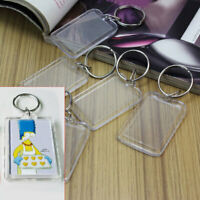 5/10pcs Keyring Key Ring Picture Frame Blank Acrylic Photo Keychain CLS