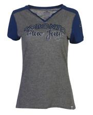 Women's Toronto Blue Jays Majestic Gray Invulnerable V Neck T-Shirt MLB XX-Large