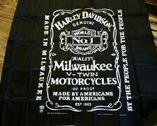 "L@@k!!! Vintage Harley Davidson tapestry 1984 44"" x 40"" New in package"