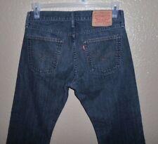 Levi's 514 Slim Straight Black Denim Jeans - Men's Size 31 x 30 is 31X29.5 GUC