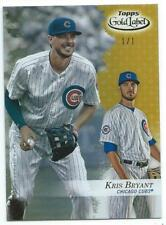 2017 Topps Gold Label Class 1 GOLD Kris Bryant #1/1 Cubs