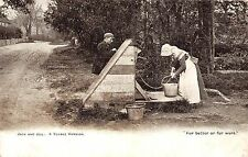 POSTCARD   SUSSEX   SOCIAL  HISTORY    Jack  and  Jill