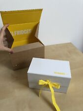 Selfridges & Co Branded Box Yellow & White Great Condition Magnet & Strap Closur
