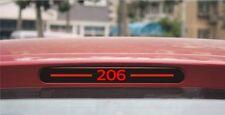 Carbon Fiber Brake Sticker For Peugeot 206 Rear Brake Lights sticker