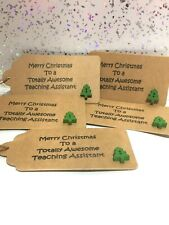 Teaching Assistant Christmas Gift Tags 5X Thank You Teachers