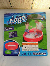 Inflatable Play Pool Three Ring 42.2inches by 42.2inches by 9.8 inches H2Ogo!