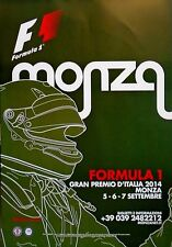 F1 Monza Italian Grand Prix Hamilton 2014 Original Poster 96cm x 66cm