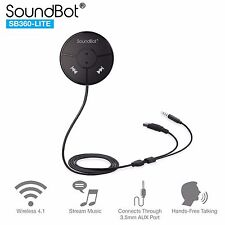 SoundBot SB360-LITE Bluetooth Dongle w/ Magnetic Mounts 3.5mm Aux and USB Cable