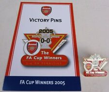ARSENAL Vs MANCHESTER UNITED FA CUP WINNERS 2005 DANBURY MINT VICTORY PIN BADGE