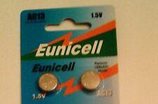 Eunicell 2 PILES BOUTON ALCALINES LR44 AG13 A76 1.5V