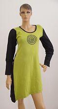 Damen Kleid Strickkleid schwarz grün Ethno Größe M (1704A-PA-OH#) 06/2020