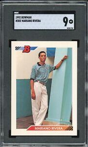 1992 Bowman Graded SGC 9 Mariano Rivera Rookie