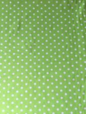 100% cotton polka dots fabric by the metre in green