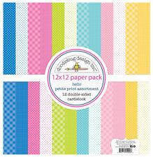 Scrapbooking Crafts 12x12 Paper Doodlebug Hello Petite Asst Dots Bright Pink +
