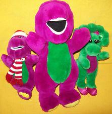 Vintage 1992 DAKIN Christmas BARNEY & Friends Stuffed Animal Toy Lot Baby Bop