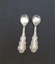 """Pair of Vintage Sterling Salt Spoons, 2 1/4"""" Long"""