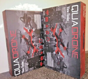 Quadrone E-Merse Streaming Drone with FPV Headset and HD Camera - NEW NEVER OPEN
