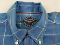 BILLS KHAKIS Blue Plaid Check Button Down Mens Casual Dress  Shirt Size  M #1326