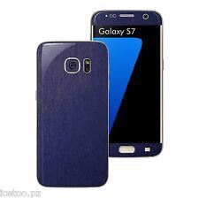 Für Samsung Galaxy s7 3d gebürstetes Metall Effekt Decal Wrap Schutzfolie Aufkleber Skin