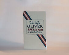 Oliver No. 11 Typewriter Instruction Manual | Reproduction | Typewriter Supplies