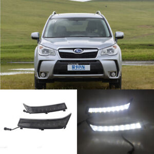 LED Daytime Running Lights DRL Signals Lamp For Subaru Forester 2013-2016