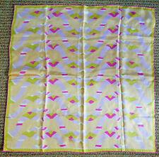 "Vintage Vera Neumann Hand Rolled Silk Designer Scarf 26"" Square Japan"