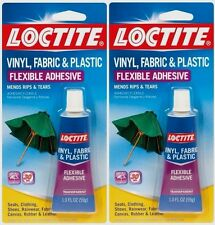 *2* 1oz LOCTITE Vinyl Fabric Plastic Flexible Clear Adhesive Leather Canvas Glue