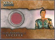 XENA WARRIOR BEAUTY & BRAWN ALEX ZEUS MENDOZA AS LUCIFER COSTUME RELIC CARD C13