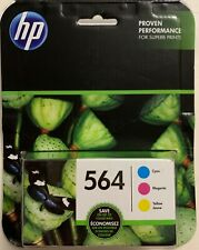 NEW HP 564 TRI-COLOR 3 ORIGINAL INK CARTRIDGES IN RETAIL BOX FREE SHIPPING BUY
