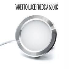 FARETTO LED INCASSO SLIM 5W LUCE FREDDA 6000K OPACO ALETTE MOBILI MENSOLE CAPPA