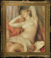 "Old Master-Art Antique Oil Painting Portrait nude girl on canvas 24""x36"""