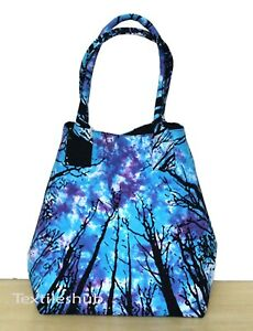 Tie Dye Forest Indian 100% Cotton Handbag Women Hippie Tote Carry Shoulder Bags